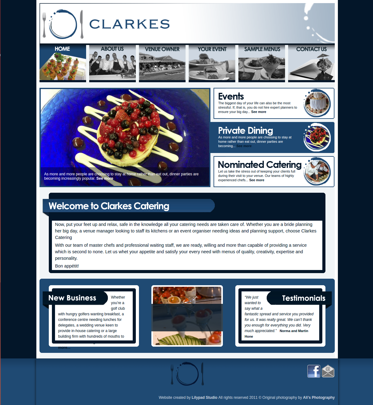 Clarkes Catering (2010)